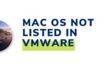 Mac OS Not Listed In VMware – FIX