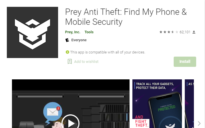 prey-anti-thefy-track-lost-android-phone